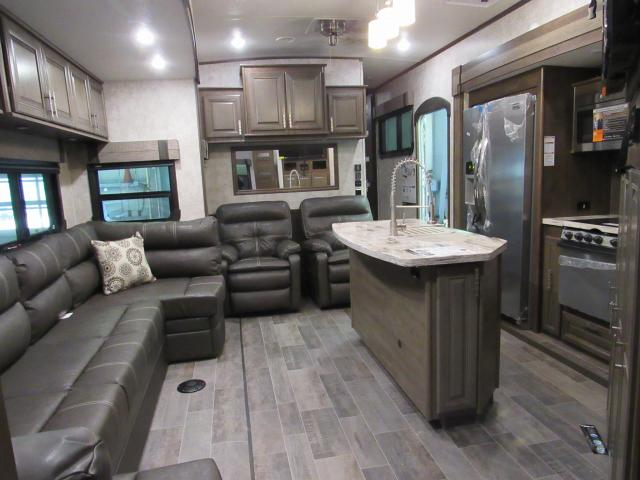 2018 Open Range 3X 427BHS 5th Wheel With Bunks Outside
