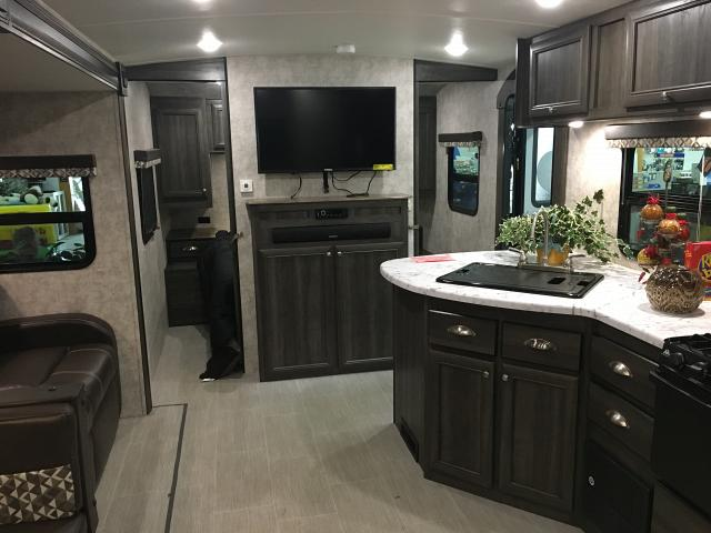 Open Range Ultra Lite 3110BH Travel Trailer with Bunks and Outside Kitchen