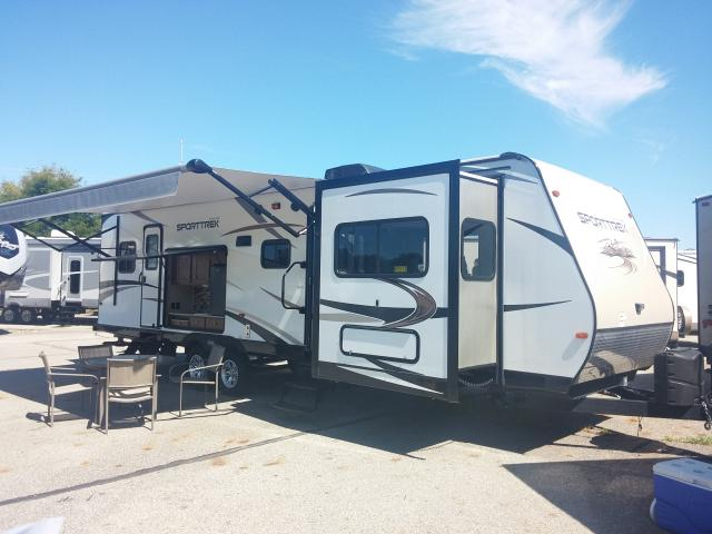 Sport Trek 323vfl Rear King Bed Travel Trailer With Outside Kitchen
