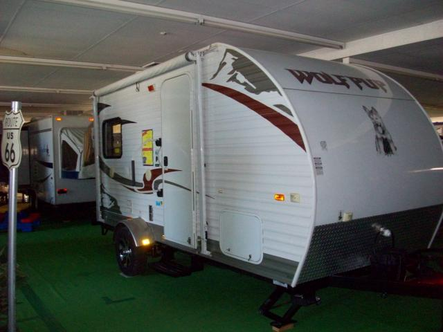 Awesome Used 2013 Wolf Pup 17B Hybrid Travel Trailer