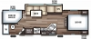 2020 Cherokee Grey Wolf 26DBH Bunkhouse Trailer with Mini Outside Kitchen
