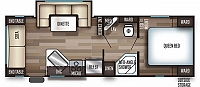 2019 Cherokee Grey Wolf 23MK Travel Trailer with Dinette in Slide-out