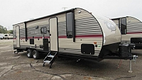 2019 Grey Wolf 26DBH Travel Trailer with Double Bunk Beds and Outside Kitchen