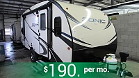 2018 Sonic Lite 169VDB Rear Bunkhouse Travel Trailer