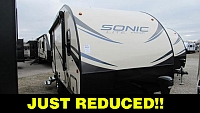 2018 Venture RV Sonic Lite 167VMS Rear Kitchen Travel Trailer