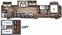 2019 Cherokee 39CA Destination Trailer with Loft, 2 Bathrooms & Office or Guest Bedroom