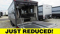 2019 Cherokee Grey Wolf 22RR Toy Hauler Travel Trailer with Patio System