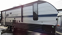 2019 Cherokee Grey Wolf 23MK Travel Trailer with Rear Sofa & Dinette in Slide-out