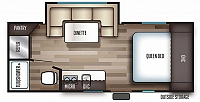 2019 Cherokee Wolf Pup 16PF Light Weight Travel Trailer with Slide