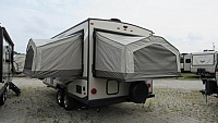 2019 Flagstaff Shamrock FLT183 Hybrid Travel Trailer with 3 Tent Beds