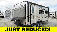2019 Flagstaff Shamrock FLT19 Hybrid Camping Trailer with Two Tent Beds