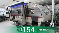 2019 Wolf Pup 16BHS Light Weight Travel Trailer with Bunks