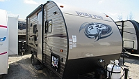 Used 2017 Cherokee Wolf Pup 16BHS Light Weight Travel Trailer with Bunks