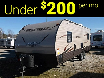 New 2017 Grey Wolf 22RR - Light Weight Toy Hauler Travel Trailer