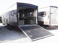 New 2018 Grey Wolf 22RR - Light Weight Toy Hauler Travel Trailer