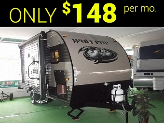 New 2017 Wolf Pup 16BHS Light Weight Travel Trailer with Bunks