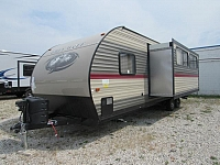 2018 Cherokee Grey Wolf 26DBH Travel Trailer with Double Rear Bunks and Fireplace