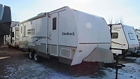 Used 2007 Keystone Outback 25RSS Rear Queen Slide with Front Bunks Travel Trailer