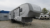 Used 2014 Open Range 367BHS Bunkhouse with Outside Kitchen Fifth Wheel