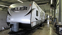 Used 2014 Salem 30QBSS Quad Bunkhouse Travel Trailer