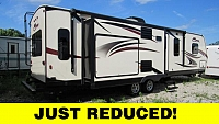 Used 2017 KZ Spree 328IK Rear Living Travel Trailer with Outdoor Kitchen