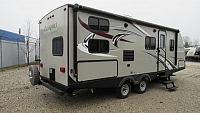 Used 2017 Keystone Passport 24BH Bunkhouse with Outside Kitchen Travel Trailer