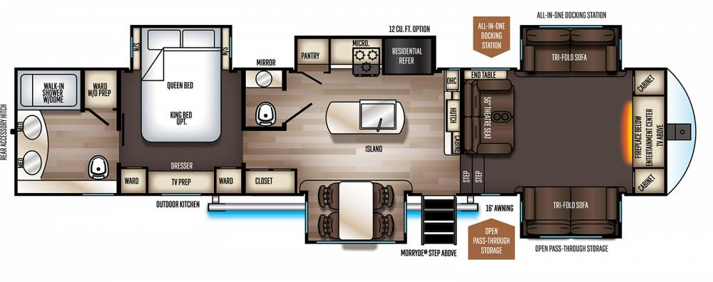 Sold 2021 Sabre 37flh Front Living Room 5th Wheel With Outdoor Kitchen
