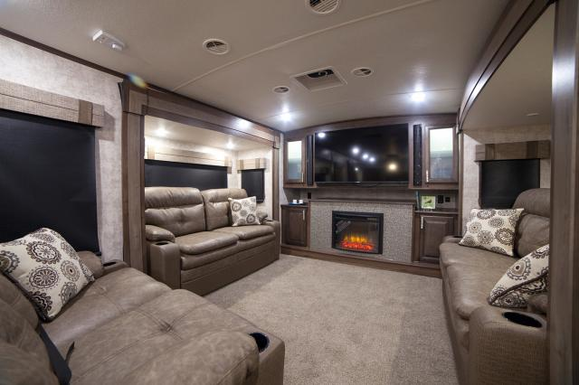 5th wheel with front living room 2017 open range 3x 377flr rear living room fifth wheel 24142