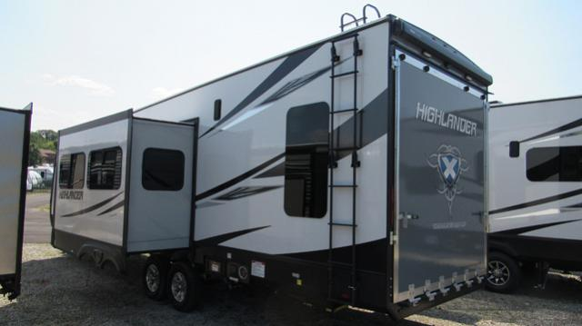 2018 Highlander 31rgr By Open Range Toy Hauler With Rear Patio For