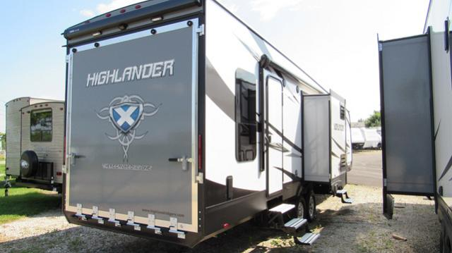 2018 Highlander 31RGR By Open Range - Toy Hauler with Rear Patio
