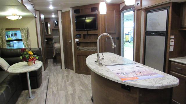 2018 Open Range Light 308BHS - Quad Bunkhouse with Outside Kitchen Travel Trailer