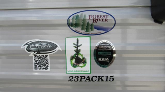 2019 Cherokee Wolf Pack 23PACK15 Toy Hauler Trailer