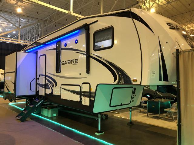 2019 Forest River Sabre 32SKT - Rear Kitchen 5th Wheel with an Outdoor Kitchen