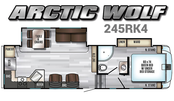 Arctic Wolf 245RK4 - Half Ton Towawble 5th Wheel