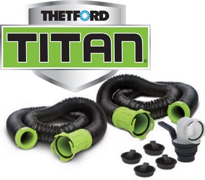 Titan 20' Sewer Hose Kit