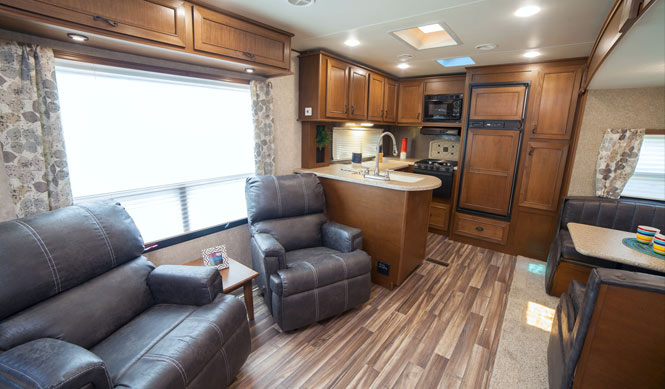 36u0027 Rear Kitchen Travel Trailer With Outside Kitchen Awesome Ideas