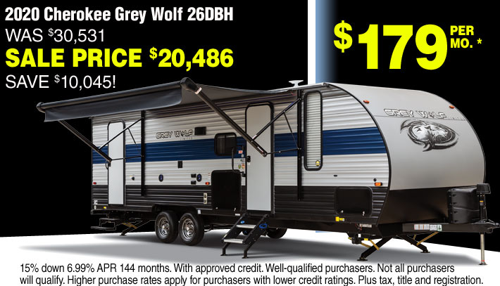 Cherokee Grey Wolf Travel Trailers for sale in Streetsboro and Akron Ohio