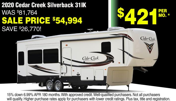 Forest River Cedar Creek RV 5th Wheels for Sale in Streetsboro and Akron Ohio