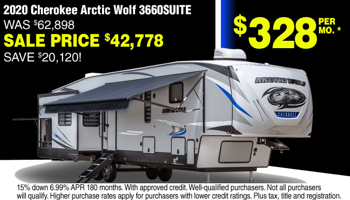 Cherokee Arctic Wolf 5th Wheels for sale in Streetsboro and Akron Ohio