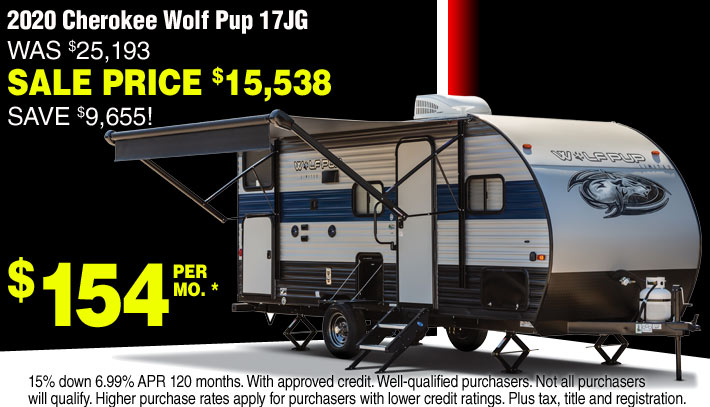 Cherokee Wolf Pup Travel Trailers for sale in Streetsboro and Akron Ohio