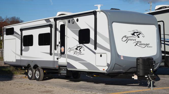 Open Range Roamer 328BHS Bunkhouse Travel Trailer at All ...