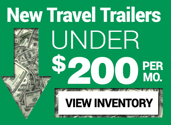 New Travel Trailers under 200 per month